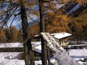 Vue extérieure du chalet Skiroc à Vallorcine, vallée de Chamonix Mont-Blanc